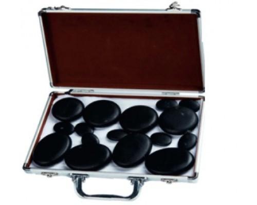 Набор из 16 камней для лица и тела СН 548 в кейсе с подогревом