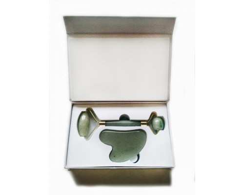 Набор для гуаша Ролик + Сердце (авантюрин), в подарочной упаковке