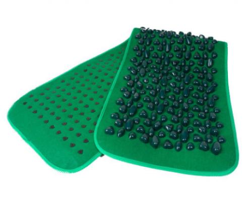 Массажный коврик с камнями зеленый Fosta F 0811