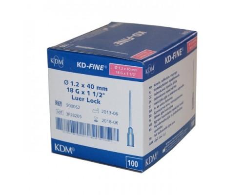 Игла инъекционная KD-Fine 18G (1,2 х 40 мм)
