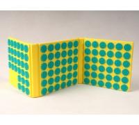 Коврик массажный (аппликатор), 6-ти секционный, Fosta F 0120, желтый