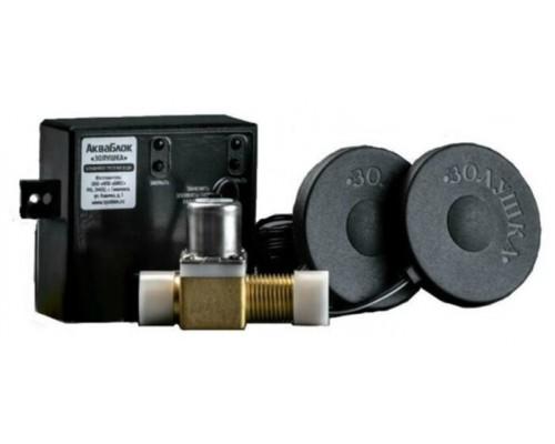 Блокиратор протечек воды АкваБлок-Золушка с 1-м пластиковым клапаном Биос