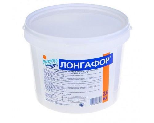 Лонгафор медленный хлор (табл. 200г) 2,6кг (ведро)
