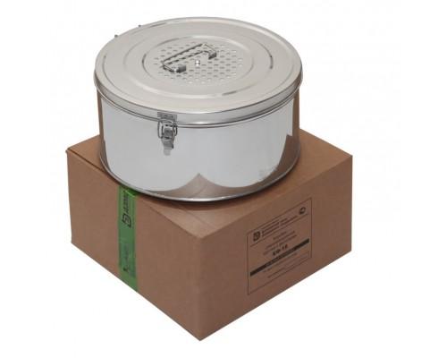 Коробка стерилизационная круглая с фильтрами КФ-18