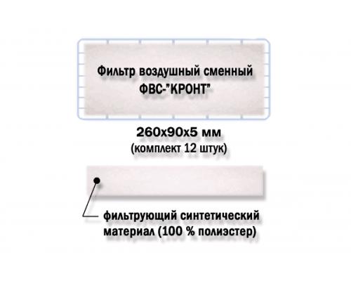 Фильтр воздушный сменный для дезаров Кронт