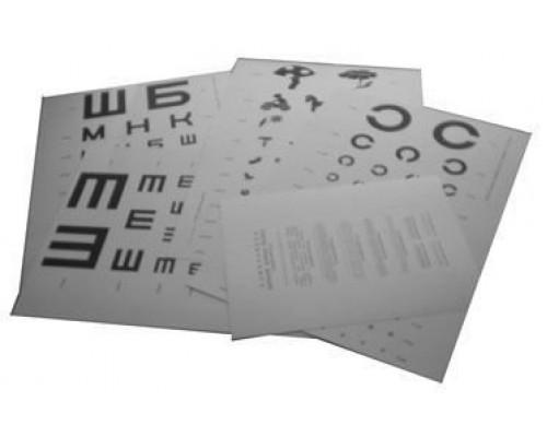 Таблицы СИВЦЕВА-ОРЛОВА (комплект 5 шт. для аппарата РОТТА)