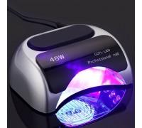 Гибридная лампа для гель-лаков УФ LED+CCFL Professional Nail (48 Вт, таймер 10, 30 и 60 сек, сенсор)