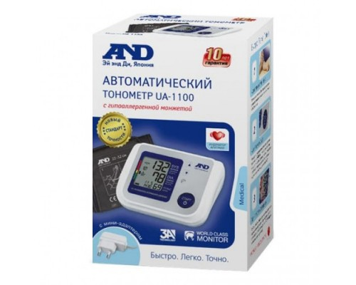 Автоматический тонометр с адаптером AND UA-1100