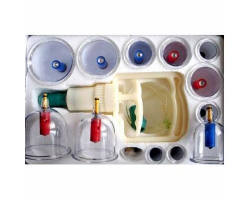 Вакуумные массажные банки с насосом 12 штук двухполярные с магнитом