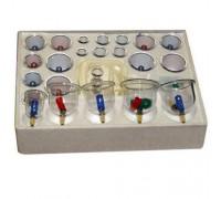 Банки для вакуумного массажа 24 шт двухполярные с магнитами