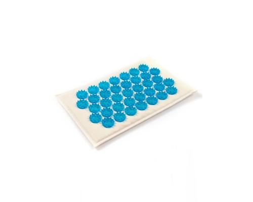 Коврик акупунктурный на мягкой подложке 12х22 см синий МА07
