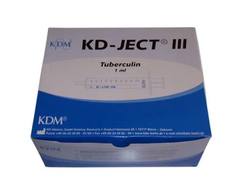 Шприц KD-Ject III  (3-х комп.) 1 мл съемная игла 27G (0,4х12) туберкулиновый