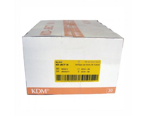 Шприц KD-Ject-3 (3-х комп.) 50 мл, игла 18G (1,2Х40), LUER LOCK