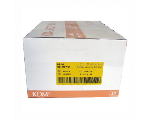 Шприц KD-Ject (3-х комп.) 50 мл, без иглы, Luer Lock