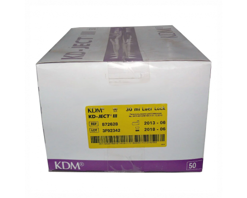 Шприц KD-Ject (3-х комп.) 30 мл, без иглы, Luer Lock