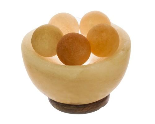 Светильник Ваза с шарами 2-3 кг в соляной чаше