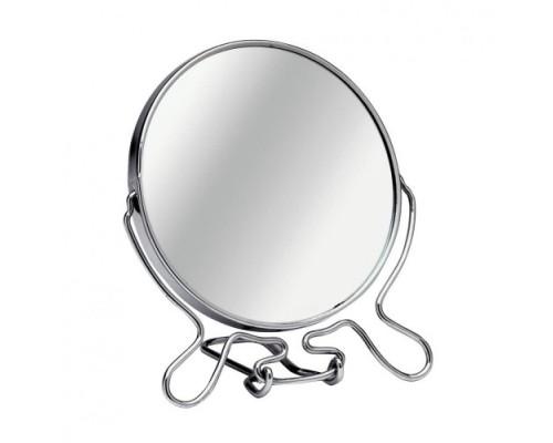 Зеркало настольное двухстороннее с увеличением, диаметр 9 см